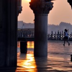 Woman running in Venice